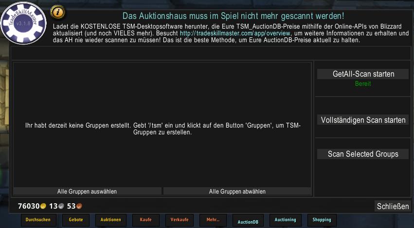 TSM AuctionDB AH Interface
