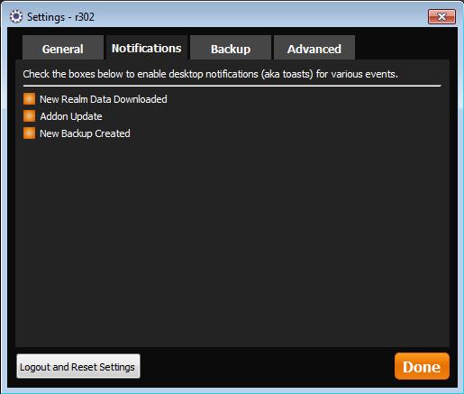 TSM Desktop App Notifications