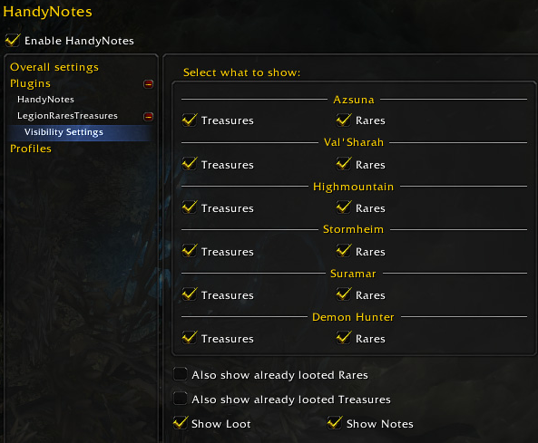 handynotes legion settings