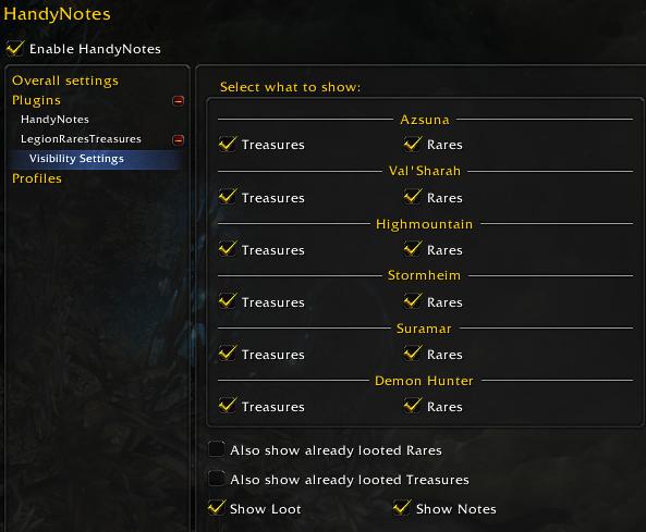 handynotes legion settings