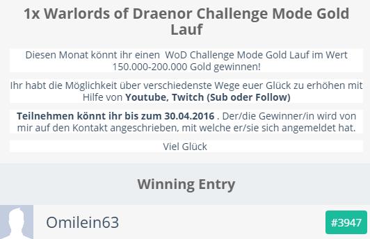 Gewinner Gewinnspiel April 2016