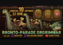 Bronto-Parade am 10.10.2020 um  22 Uhr Live auf Twitch und Youtube inkl. Bronto Verlosung