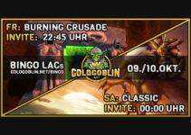 Bingo Challenge am 09./10.Okt! Burning Crusade sowie Classic Raids/Instanzen