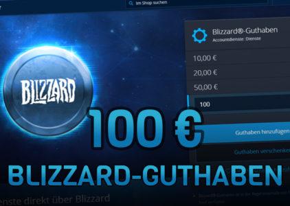 Heute Live im Stream 100€ Blizzard Guthaben